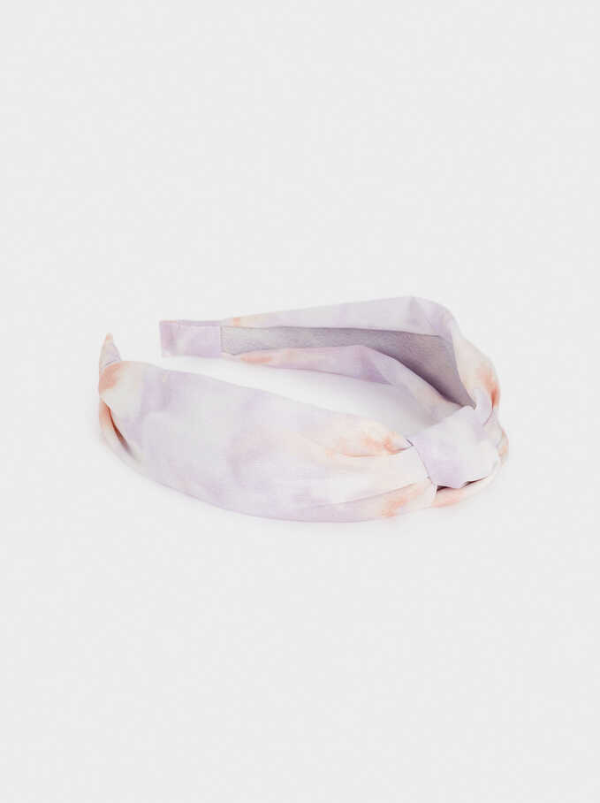 Diadema Ancha Nudo Tie-Dye, Multicor, hi-res