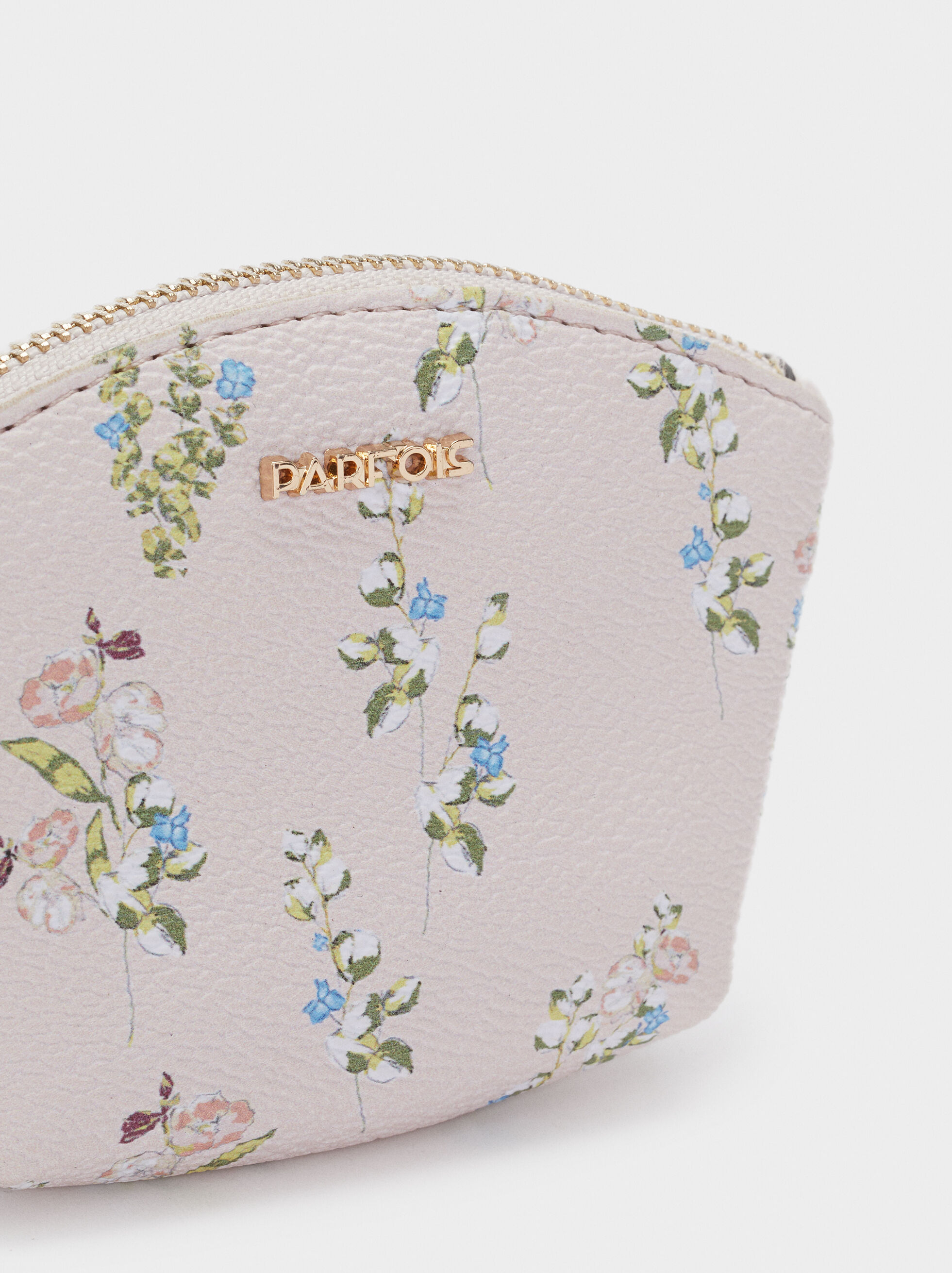 Floral Printed Coin Purse, Pink, hi-res