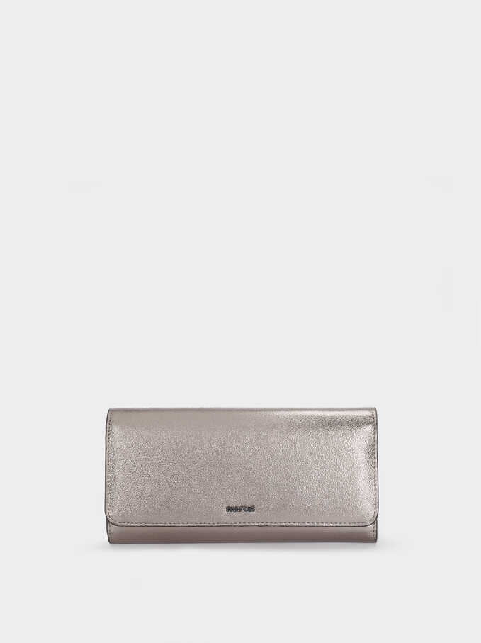 Metallic Multi-Use Purse, Silver, hi-res