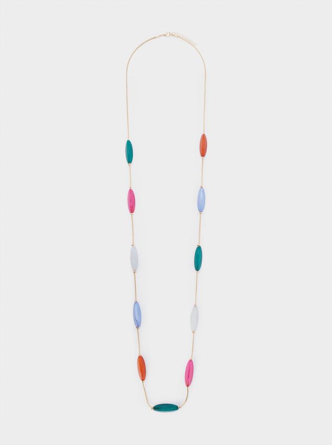 Long Multicolor Necklace, Multicolor, hi-res