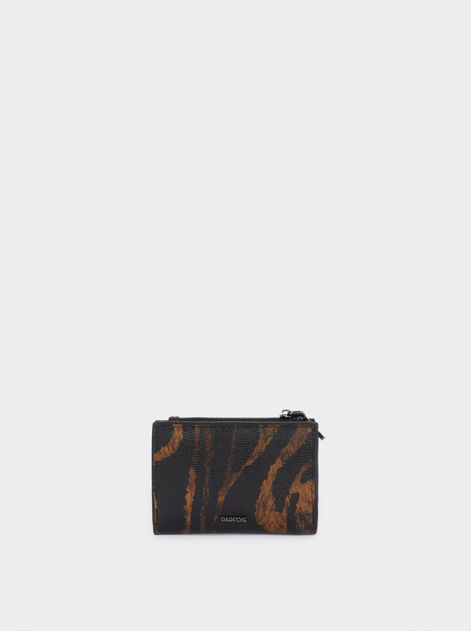 Animal Print Wallet, Black, hi-res