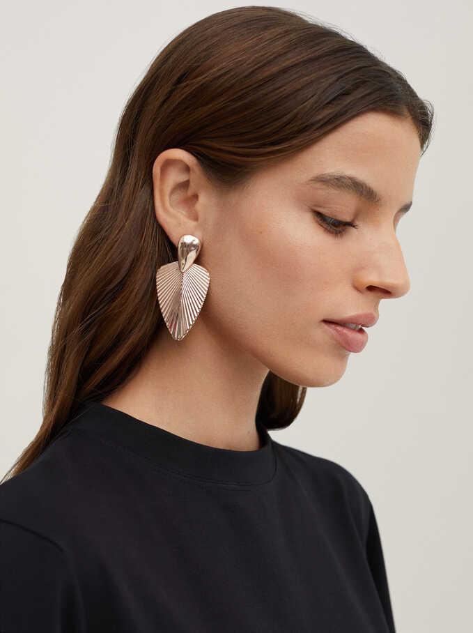 Basic Dangle Earrings, Orange, hi-res