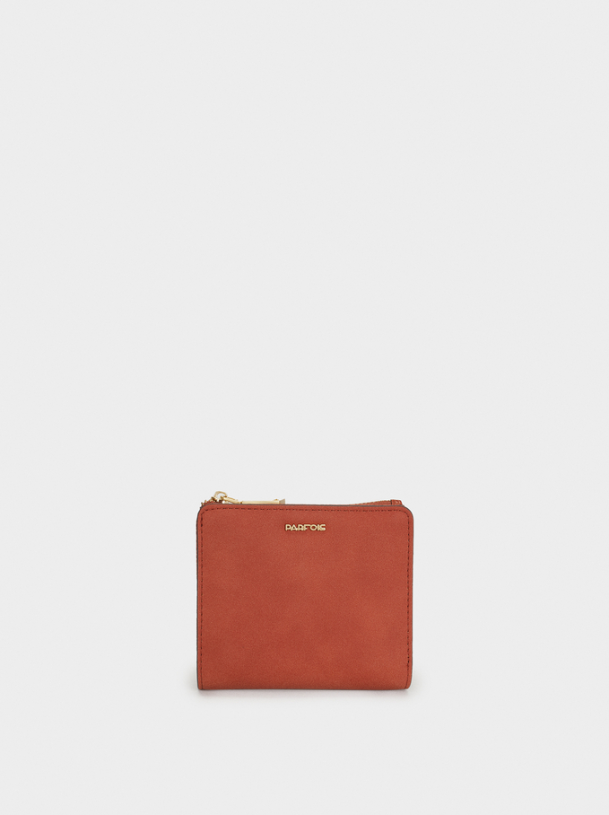 Plain Small Purse, Brick Red, hi-res