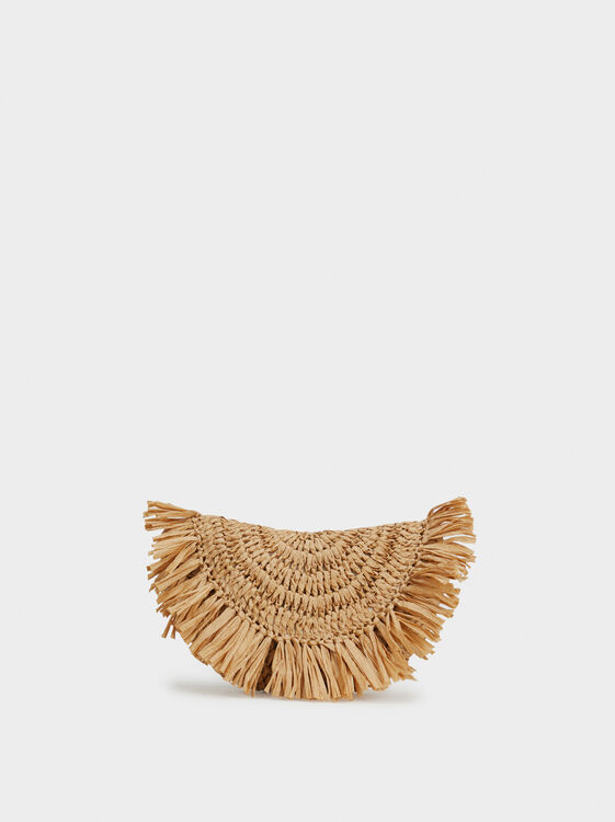 Raffia Effect Handbag, , hi-res
