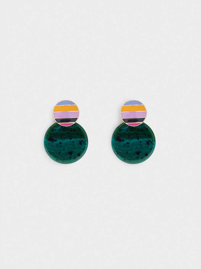 Resin Earrings, Multicolor, hi-res