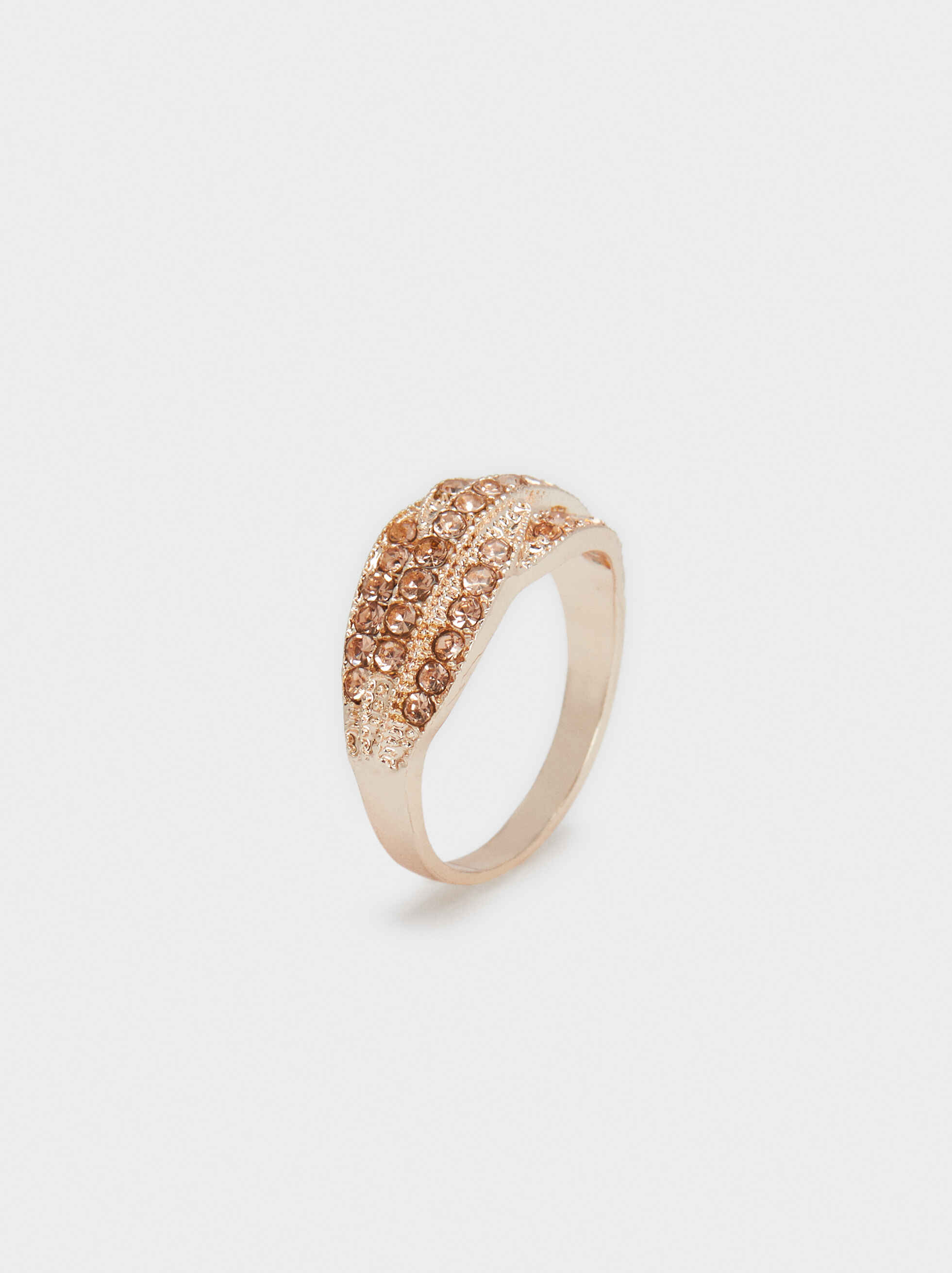 Rose Gold Ring With Crystals, , hi-res