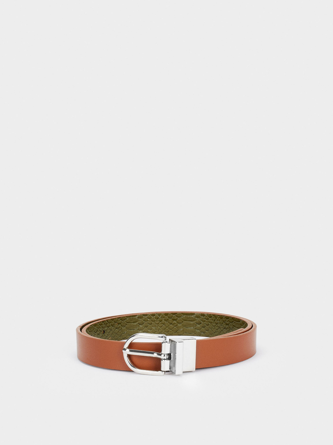 Reversible Belt, Camel, hi-res