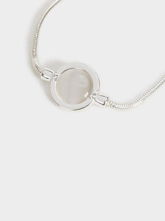 Adjustable Gem Bracelet, Silver, hi-res