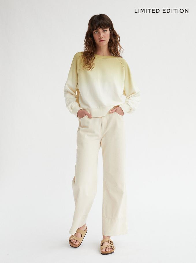 Limited Edition 100% Cotton Sweatshirt, Ecru, hi-res