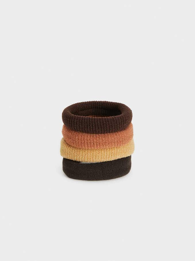Basic Hair Tie Set, Multicolor, hi-res