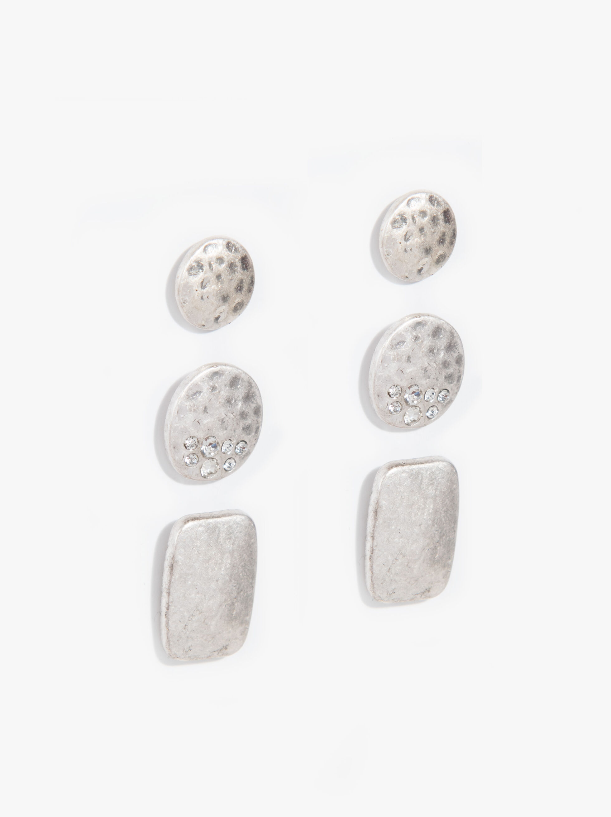Set Of Basic Earrings, Silver, hi-res