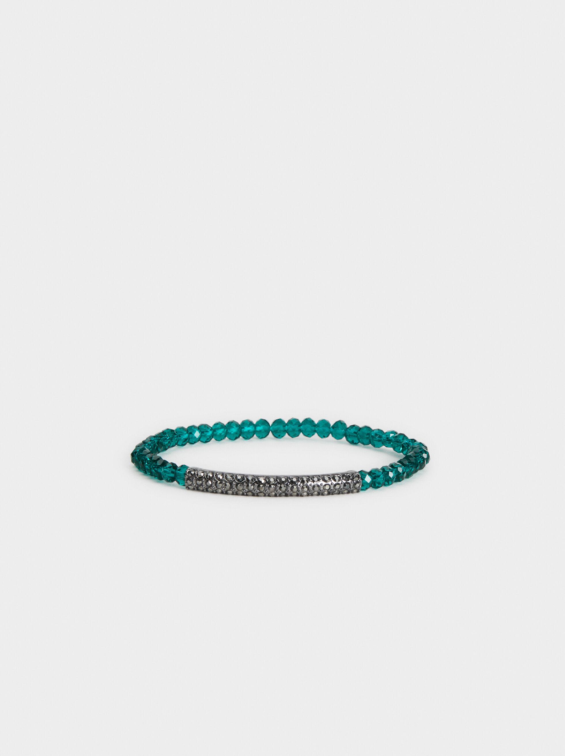 Botanical Party Elasticated Bracelet, Multicolor, hi-res
