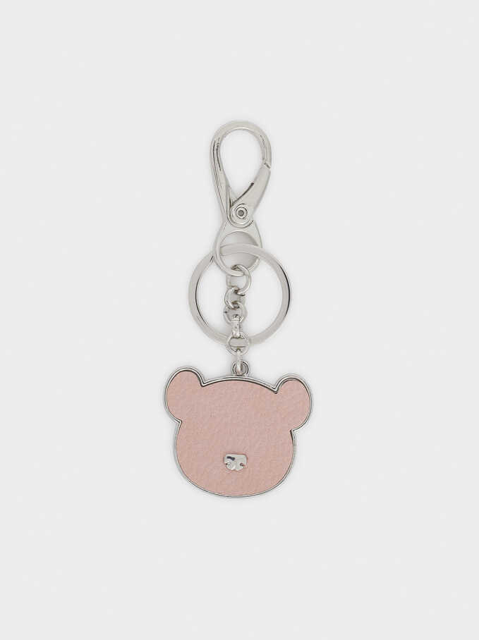 Bear Key Chain, Pink, hi-res