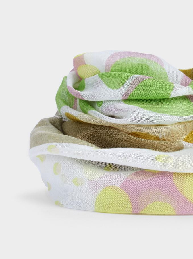 Foulard Imprimé Confectionné À Partir De Matières Recyclées, Multicolore, hi-res