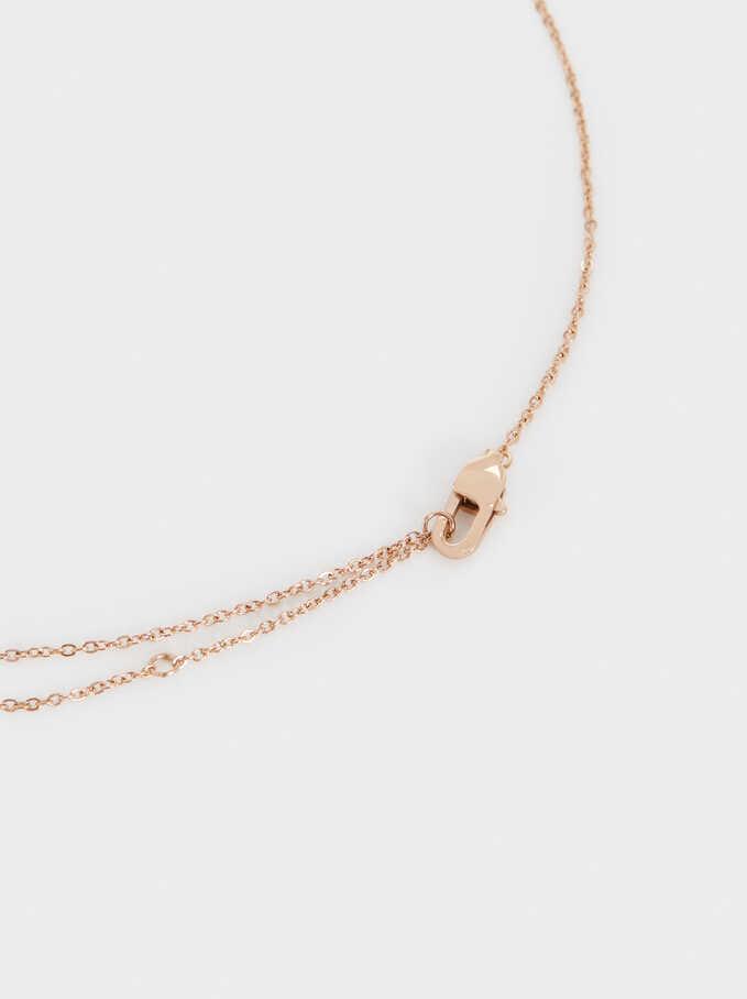 Collar Corto De Acero Serpiente, Naranja, hi-res