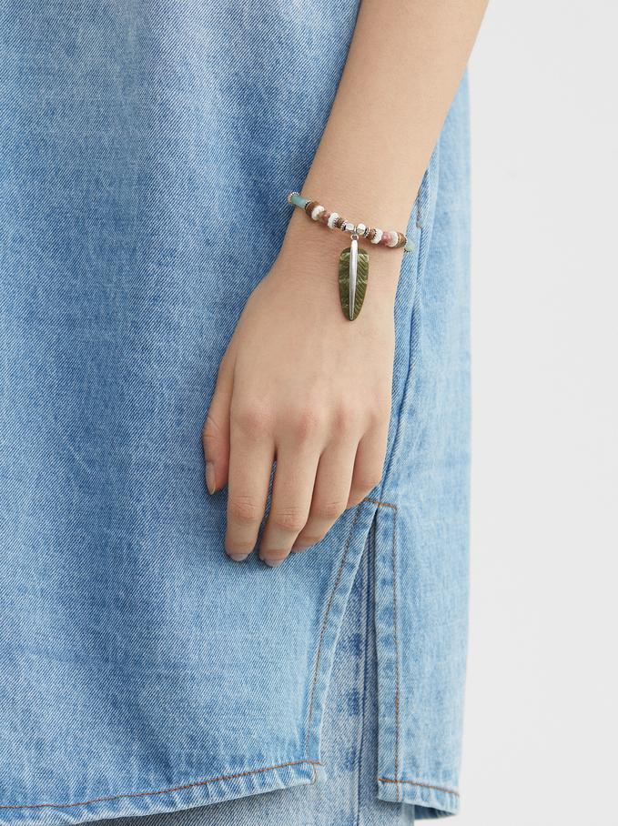 Star Valley Elastic Bracelet, Multicolor, hi-res
