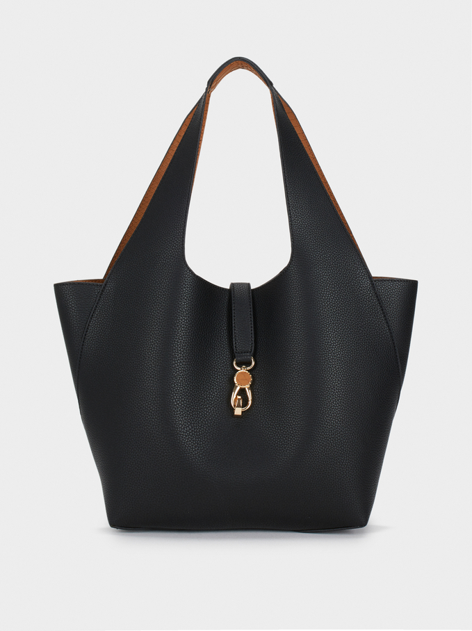 Reversible Handbag, Black, hi-res