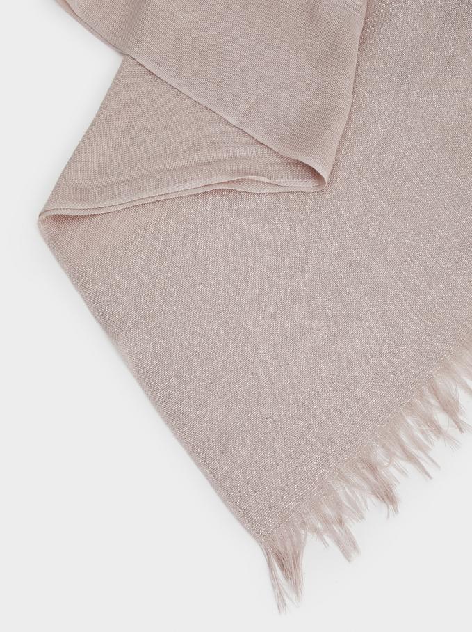 Metallic Basic Scarf, Pink, hi-res