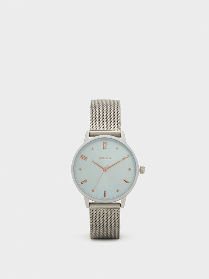 Watch With Interchangeable Straps, Silver, hi-res