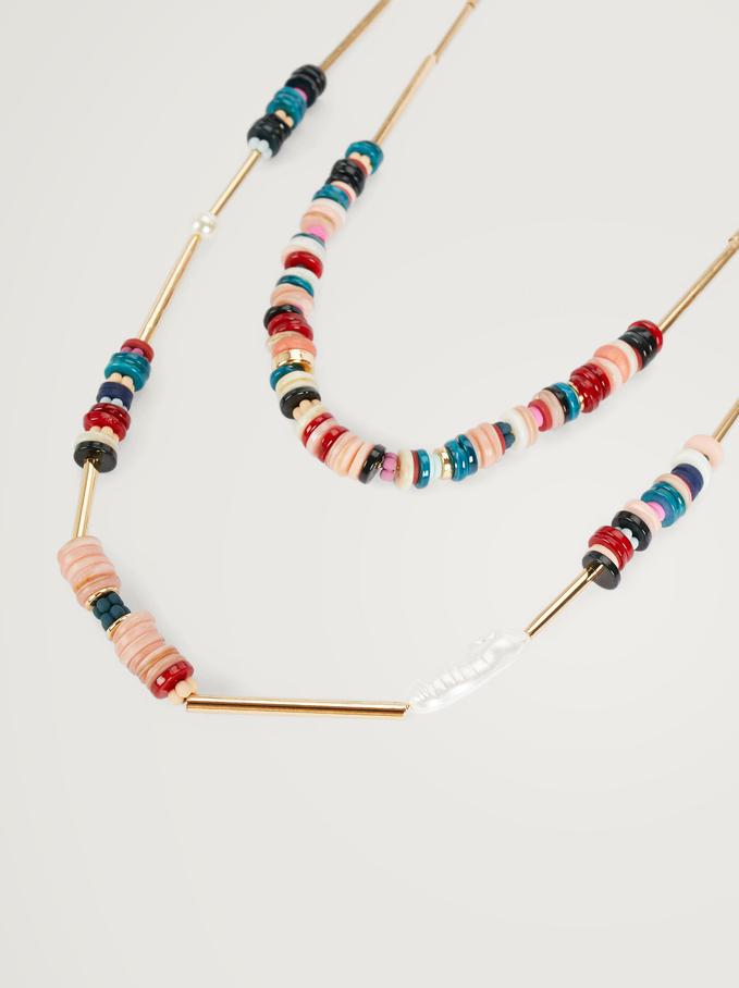 Collier Long Avec Coquillage Et Perles Fantaisie, Multicolore, hi-res