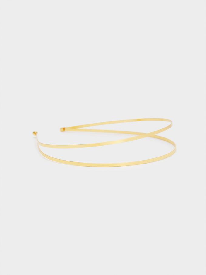 Thin Double Headband, Golden, hi-res