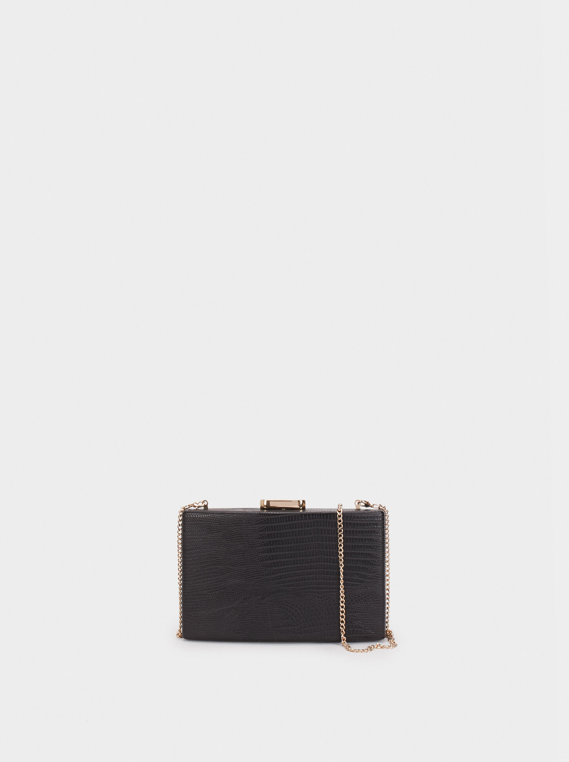 Clutch Com Gravado Animal, Preto, hi-res