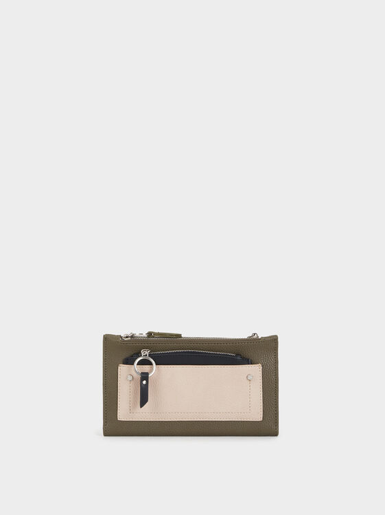Large Purse With Additional Detachable Purse, Khaki, hi-res