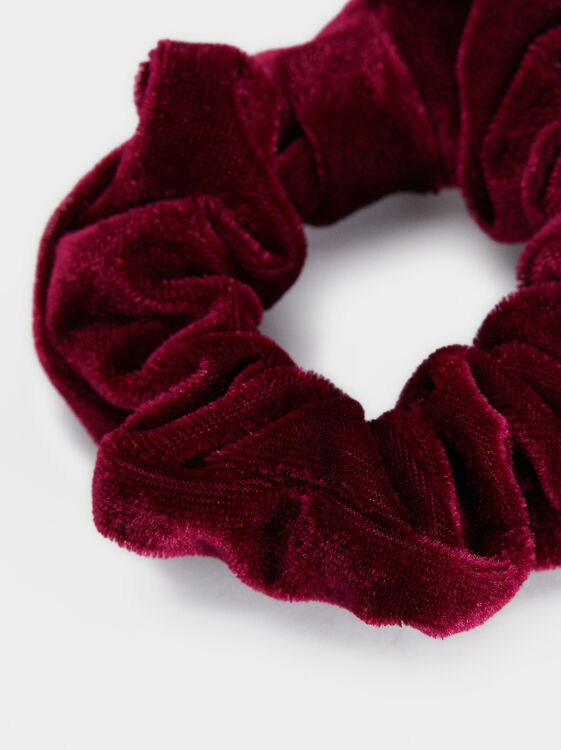 Velvet Hair Tie, Bordeaux, hi-res