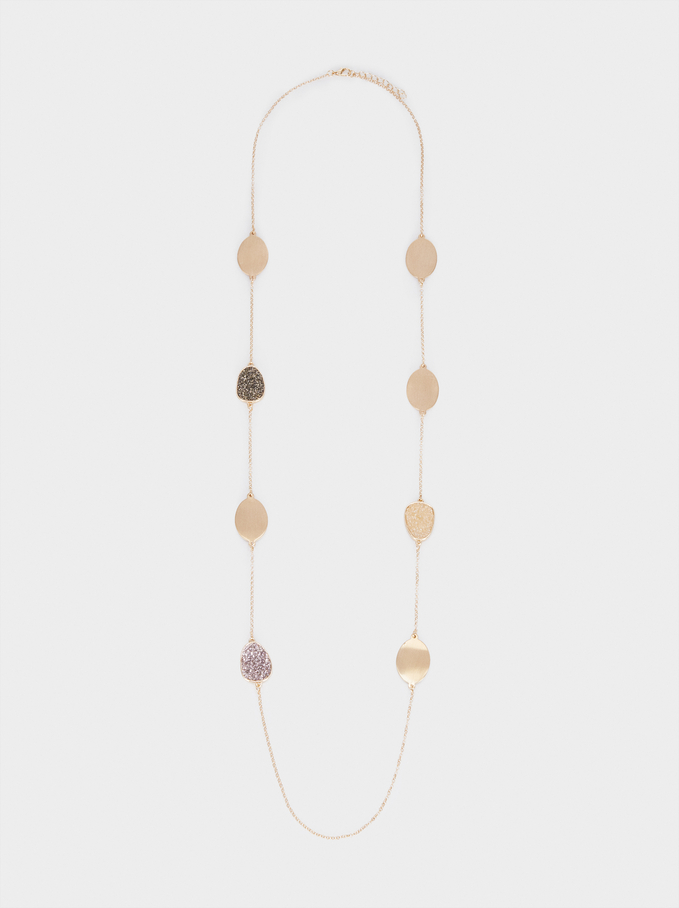 Long Necklace With Pendants, Multicolor, hi-res