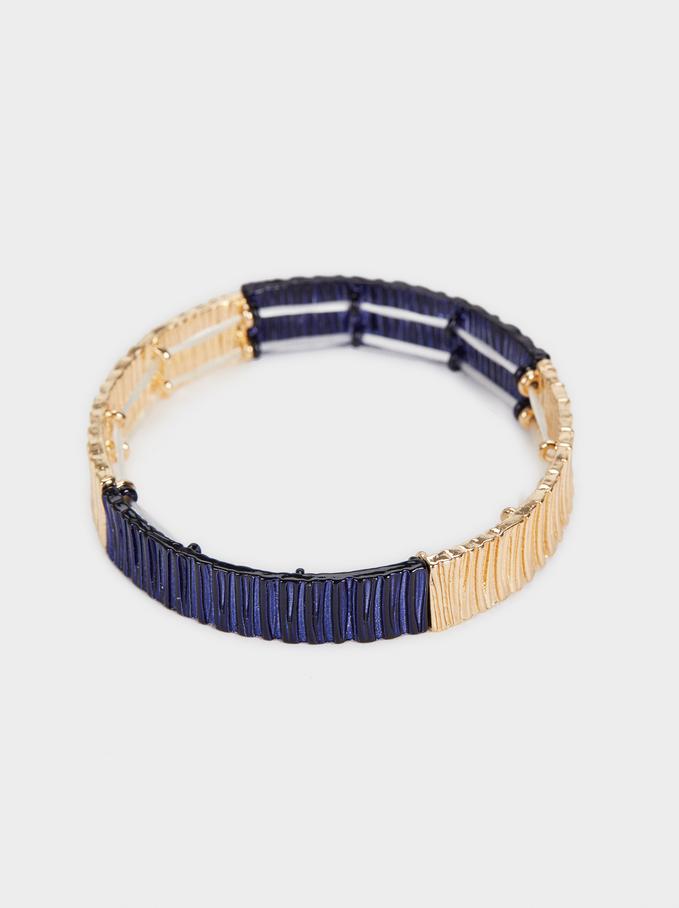 Elastic Bracelet, Navy, hi-res