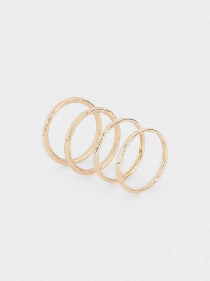 Set Of Golden Rings, Golden, hi-res
