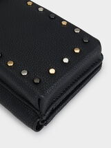 Mobile Phone Holder With Studs, Black, hi-res