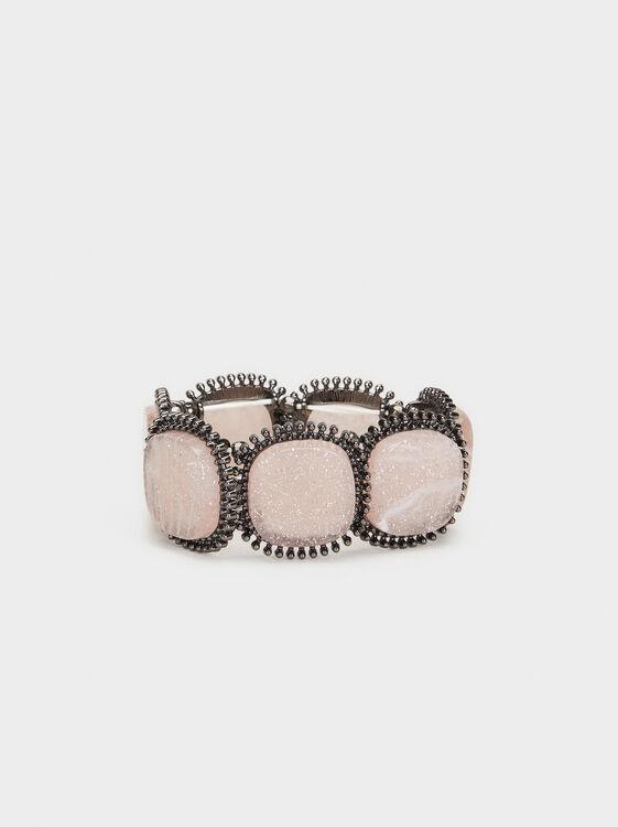 Cosmic Pink Elastic Bracelet, Multicolor, hi-res