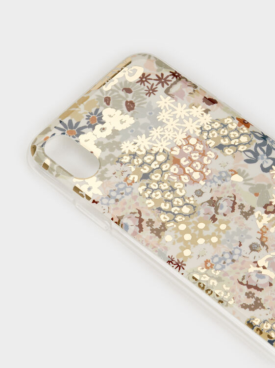 Floral Print Iphone 10 Case, Multicolor, hi-res