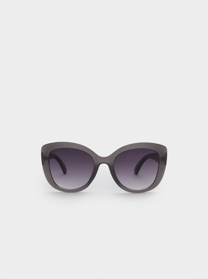 Occhiali Da Sole Con Montatura In Acetato, Grigio, hi-res
