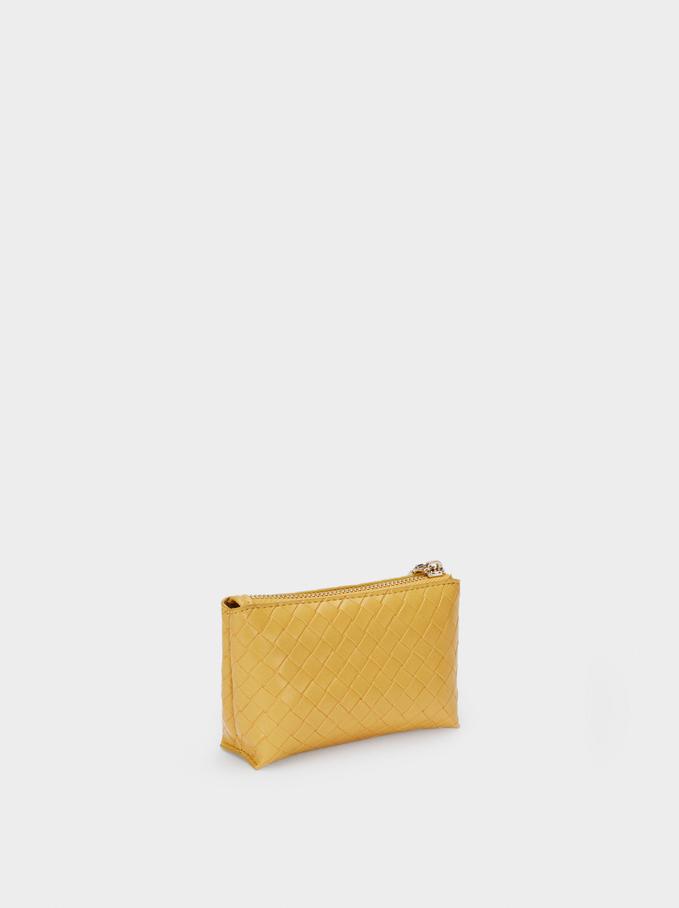 Braided Purse, Yellow, hi-res