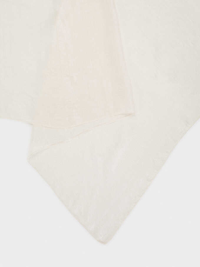 Satin Finish Pashmina, Beige, hi-res