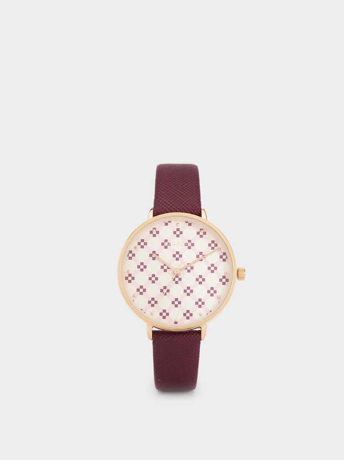 Rhombus Watch, Red, hi-res