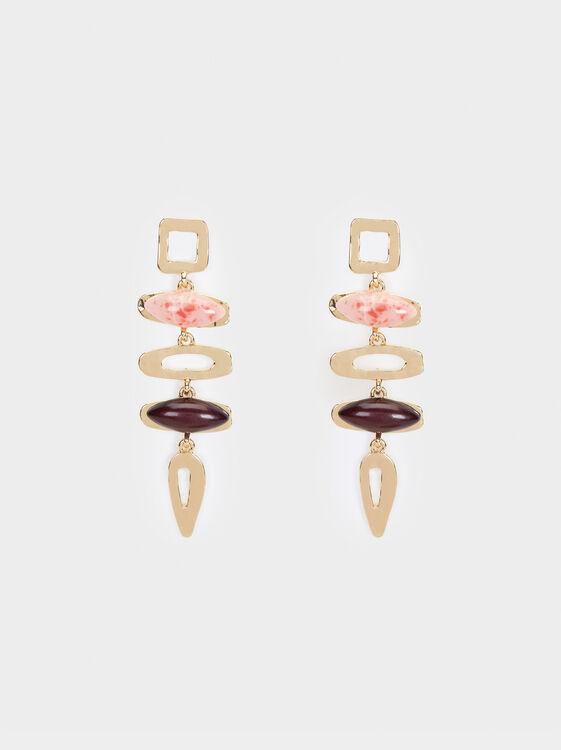 Savage Sparkle Long Earrings, Multicolor, hi-res