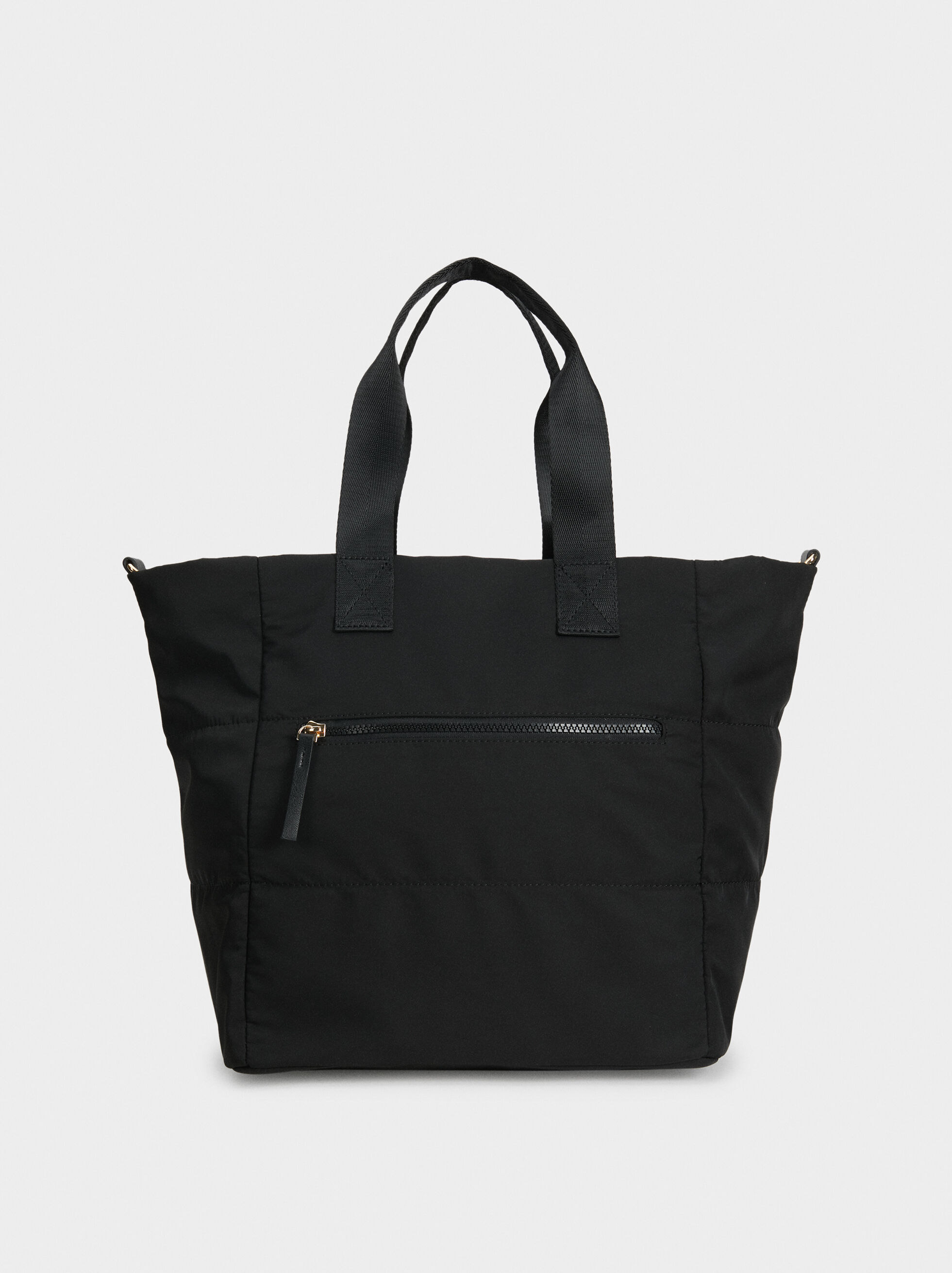 Nylon Tote Bag, Black, hi-res