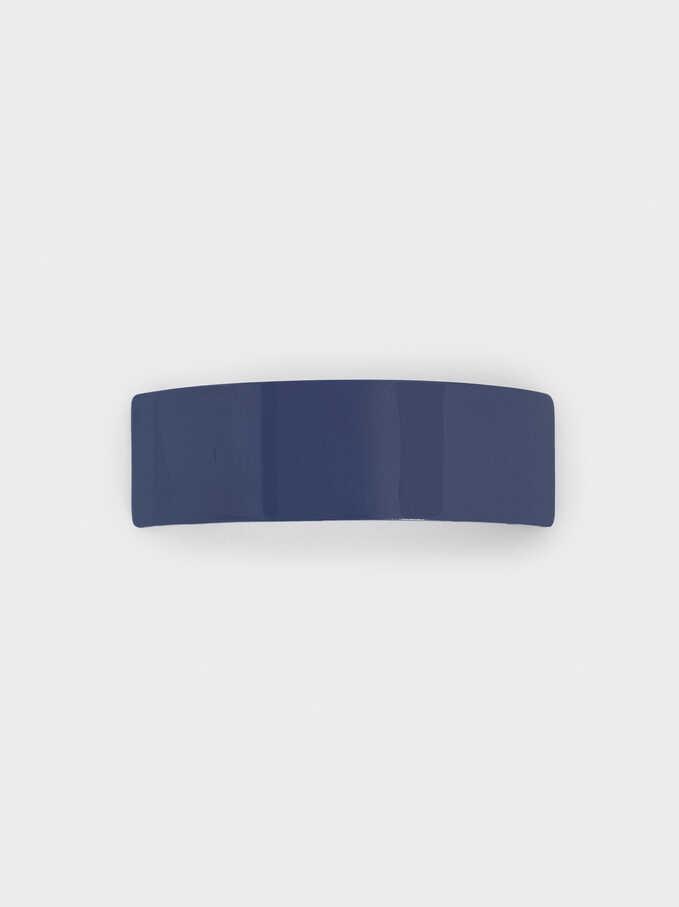 Hair Clip, Navy, hi-res