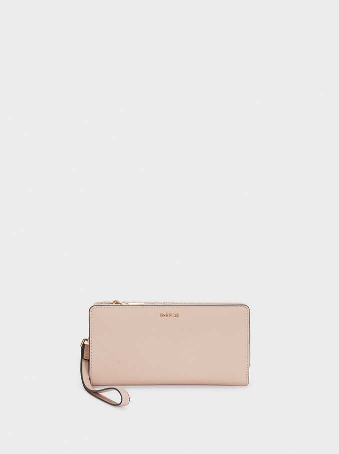 Compact Purse With Handle, Pink, hi-res