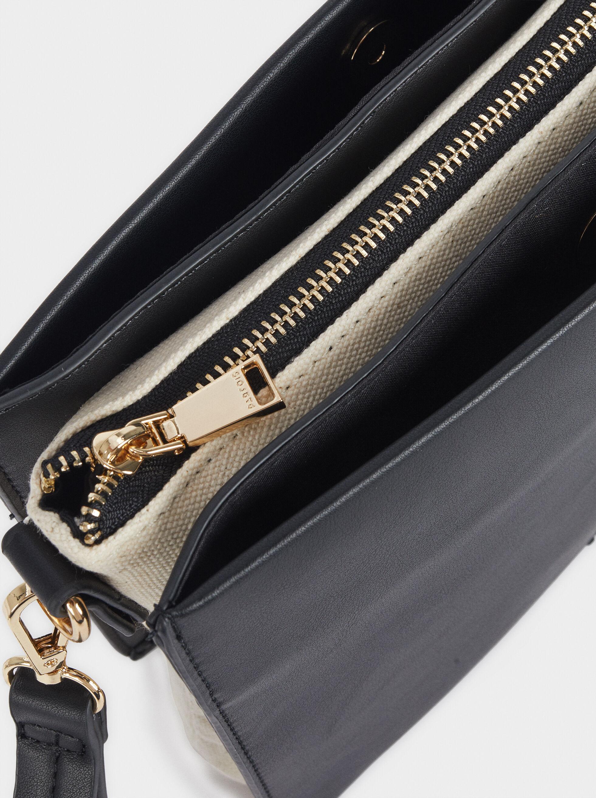 Handbag With Zip Fastening, Black, hi-res