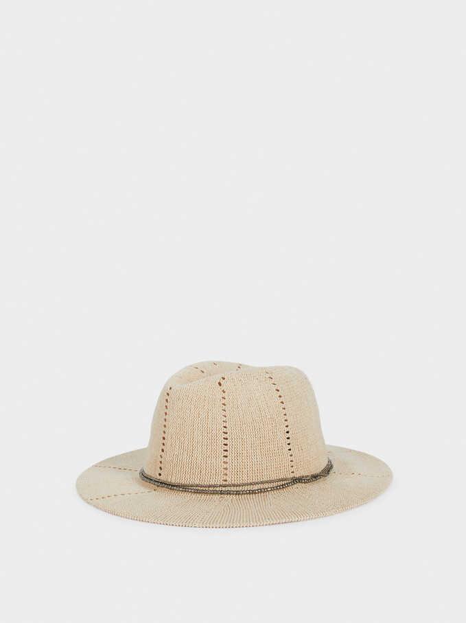 Knit Hat, White, hi-res