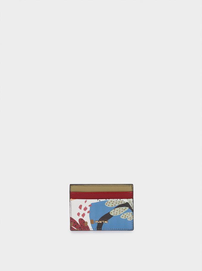 Porte-Cartes Imprimé Multicolore, Écru, hi-res