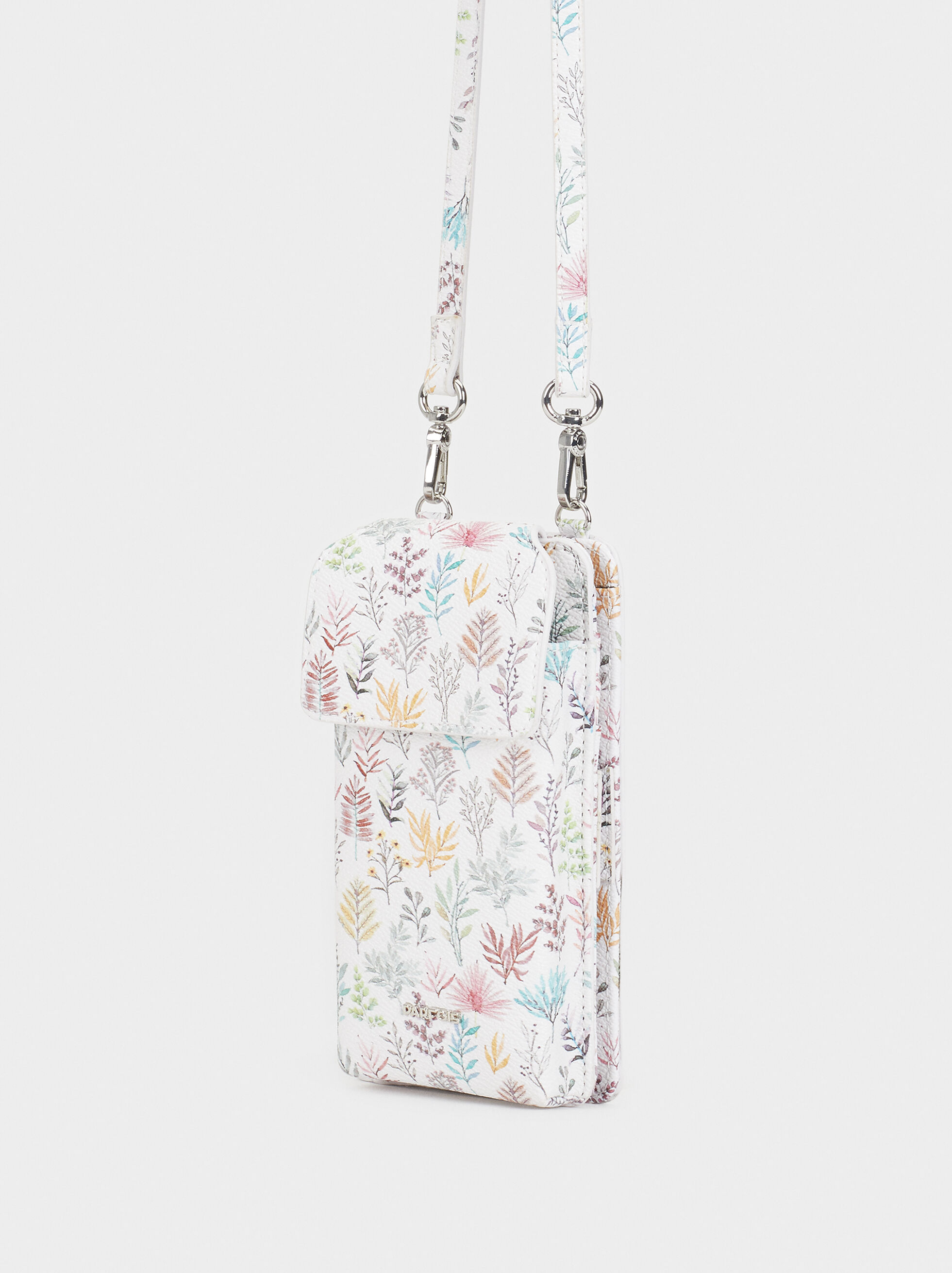 Floral Print Mobile Phone Carrying Case, Pink, hi-res