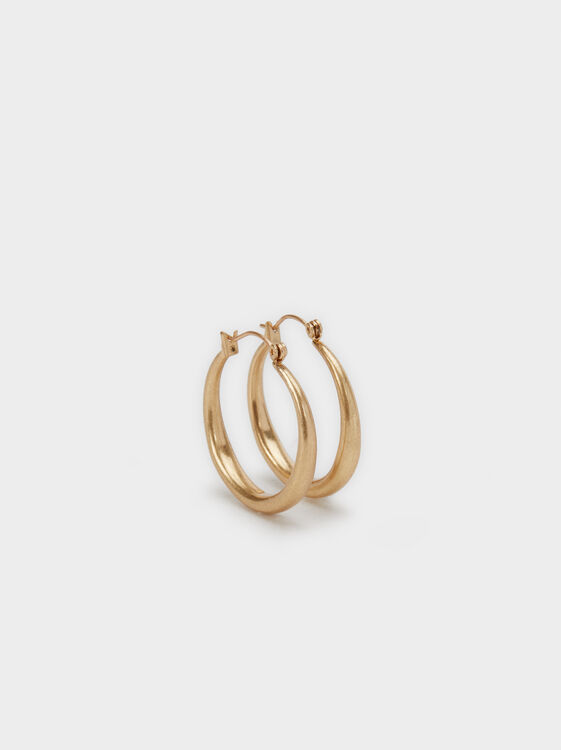 Golden Basics Hoop-Earrings, , hi-res