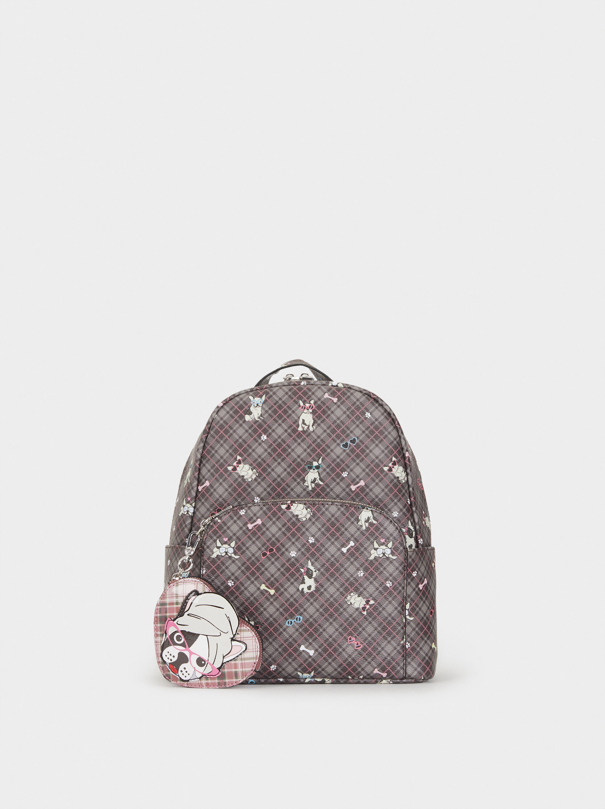 Printed Backpack, , hi-res