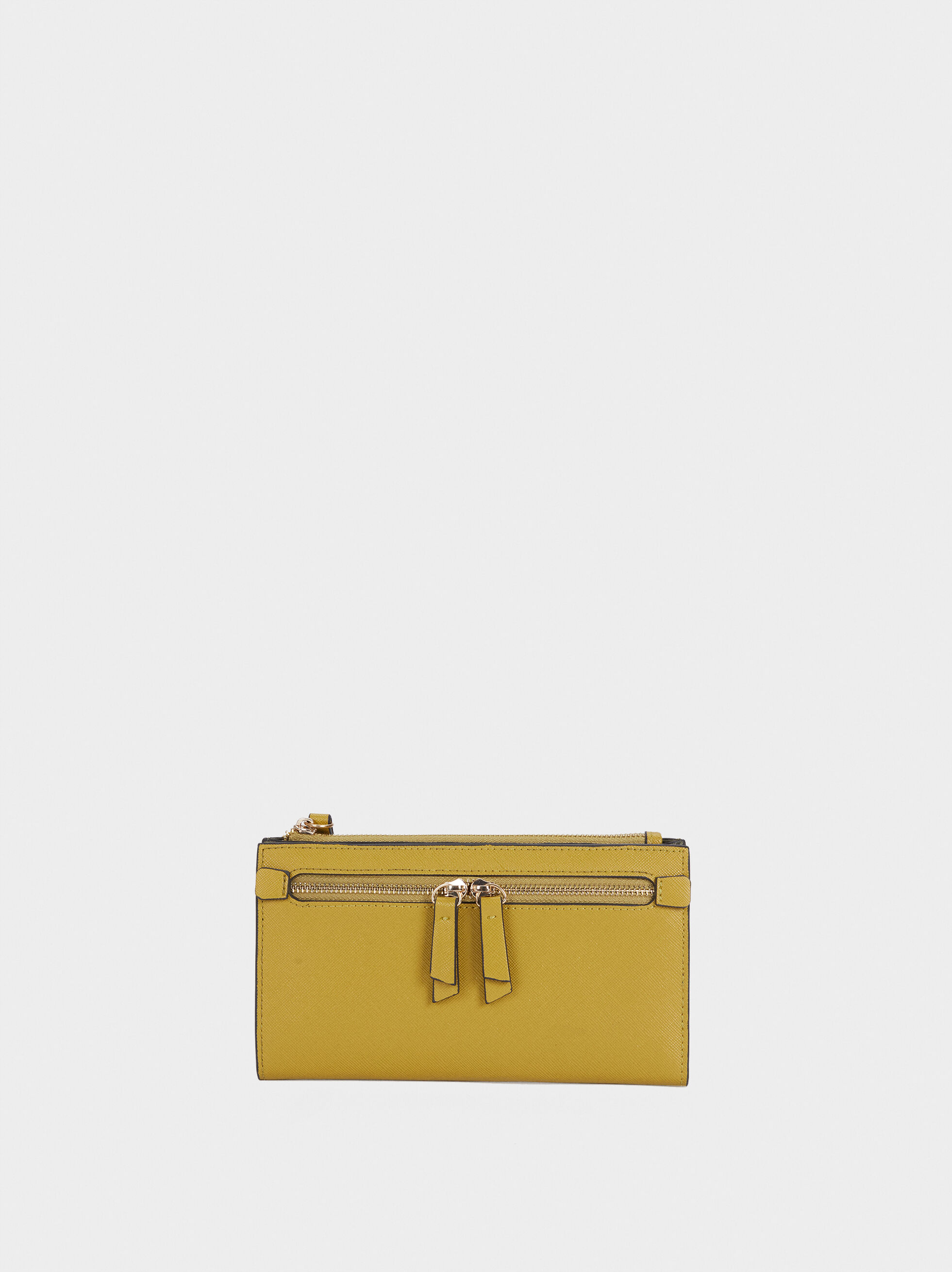 Plain Zipped Purse, , hi-res