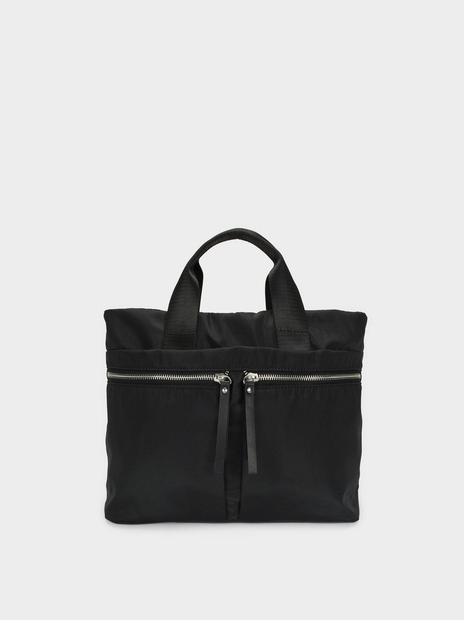 Nylon Tote Bag With Pockets, , hi-res